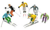 6 Figures with Ski Poles