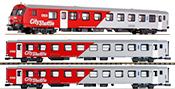 3-Car Austrian City Shuttle Passenger Car Set