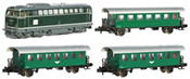 Austrian Diesel Locomotive BR 2143.040 with 3 Passenger Coaches of the OBB