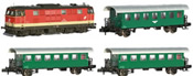 Austrian Diesel Locomotive BR 2143.008 with 3 Passenger Coaches of the OBB