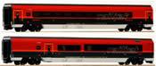 Austrian 2pc Railjet 26 Economy Wagen + Bistro Wagen of the OBB