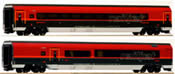 Austrian 2pc Railjet 26 Economy Wagen + First Class Wagen of the OBB