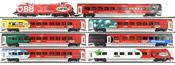 8pc Austrian Electric Locomotive Railjet 1116.225 Set of the OBB
