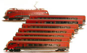 Austrian 8 Piece Railjet Set with Current Conducting Couplers