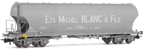 Jouef 6024 -  SNCF, Round-sided hopper wagon  Michel Blanc. Curved sides