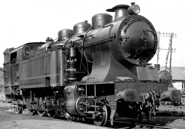 Jouef HJ2302 - French steam locomotive 141 TA 308 of the SNCF; period III; DC Digital with Sound