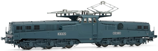 Jouef HJ2332 - French electric locomotive  CC14100 of the SNCF; blue/yellow livery ;early version, period III