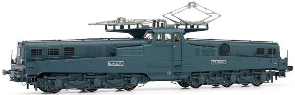 Jouef HJ2333 - Electric locomotive  CC14100 blue/yellow livery early version, SNCF period III DC Digital with Sound