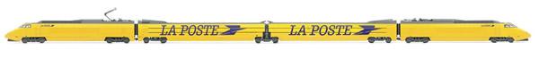 Jouef HJ2357S - 4pc Electric TGV La Poste Train large swallow bird logo of the SNCF (DCC Sound Decoder)