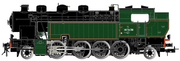 Jouef HJ2377S - French Steam Locomotive 141 TA 318 of the SNCF (DCC Sound Decoder)