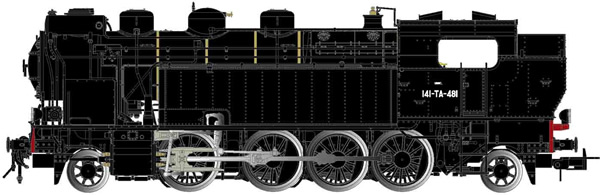 Jouef HJ2378S - French Steam Locomotive 141 TA 481 of the SNCF (DCC Sound Decoder)