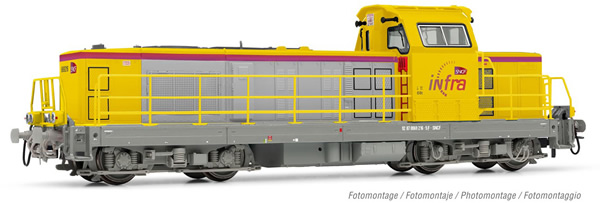 Jouef HJ2393S - French Diesel locomotive class BB 669216 Infra of the SNCF (DCC Sound Decoder)