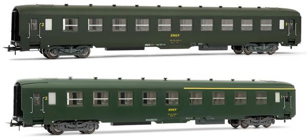 Jouef HJ4104 - French set of 1 A4C4B5C5 + 1 B10C10 coaches of the SNCF
