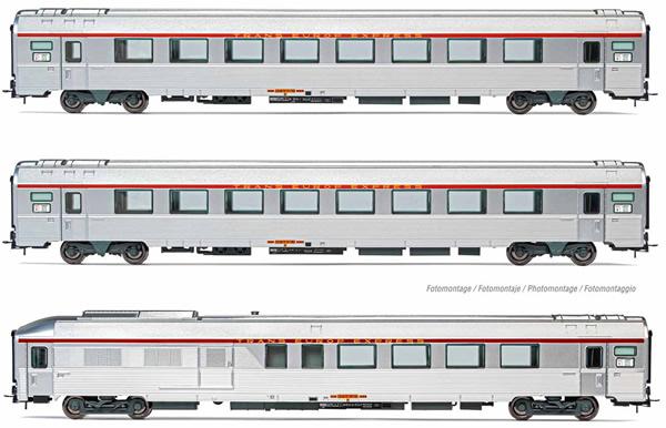 Jouef HJ4144 - 3pc TEE LArbalète Passenger coach Set