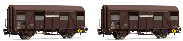 Jouef HJ6153 - French boxcar set  type G4 UIC ORE of the SNCF; with opened flaps; Provence Express