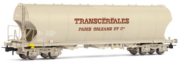"Jouef HJ6157 - French round sided hopper car of the SNCF; ""Transcéréales Paris-Orléans"""