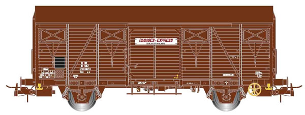"""Jouef HJ6164 - 2-axle covered wagon Gss 4.01 """"Bagages Express"""""""