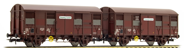"""Jouef HJ6167 - 2-unit pack 2-axle covered wagons Gs 4, """"Provence Express"""", with open ventilation slides"""