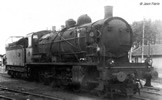 French Steam locomotive 140 C 70, with tender 18 B 64 of the SNCF
