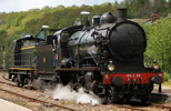 French Steam locomotive 140 C 38, with tender 18 B 22 (Est) of the SNCF