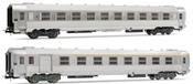 French set of 1 A7Dtj + 1 B10j coaches of the SNCF