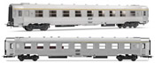 French set of 1A5rtj  + 1 B9j coaches of the SNCF