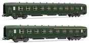 French set of 1 A4C4B5C5 myfi + 1 B10C10myfi coaches of the SNCF