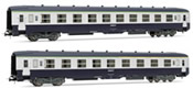 French set of 1 A4C4B5C5 + 1 B10C10 coaches of the SNCF