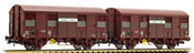 "2-unit pack 2-axle covered wagons Gs 4, ""Aquitaine Express"", with open ventilation slides"