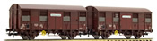 "2-unit pack 2-axle covered wagons Gs 4, ""Provence Express"", with open ventilation slides"