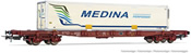 4-axle container wagon Sgss with swap body Medina
