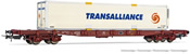 4-axle container wagon Sgss with swap body Transalliance