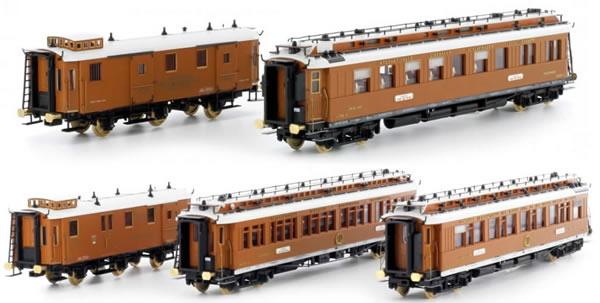 Kato HobbyTrain Lemke H22100-1 - Early 1900s  Wood Sided Orient Exress Set (Digital)