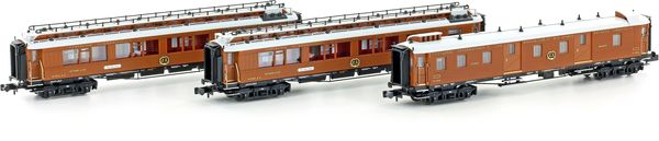Kato HobbyTrain Lemke H22104 - Early Wood S1900s Calais-Venice Orient Express Set