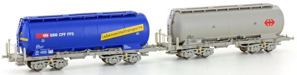 Kato HobbyTrain Lemke H23483 - 2-unit set Silo wagon Uacs of the SBB