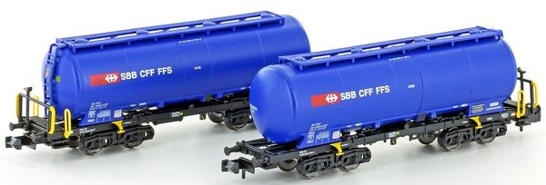 Kato HobbyTrain Lemke H23486 - 2 pc. Silowagen Uacs of the SBB blue