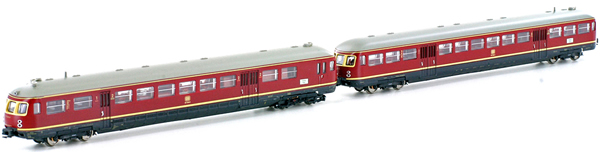 Kato HobbyTrain Lemke H2691 - German 2pc Diesel Railbus Limburger Zigarre ETA 517 / ESA 817 of the DB - Sound