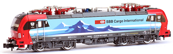Kato HobbyTrain Lemke H2984 - Swiss Electric Locomotive BR193 Vectron of the SBB Cargo Duisburg