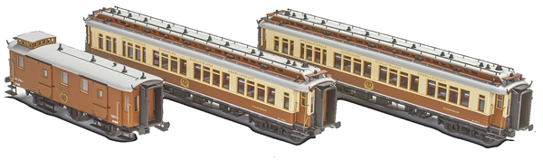 Kato HobbyTrain Lemke H44020 - 3pc. CIWL Set 1 Simplon-Express - AC Version