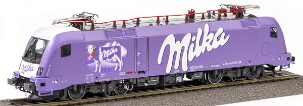 Kato HobbyTrain Lemke RA1057S - Austrian Electric Locomotive Class 1116 Milka-Lok II Purple Cow of the OBB (AC Digital Sound)