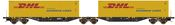 Container Wagon Sggmrss 90 PKP Cargo with x2 DHL Containers