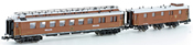 2pc CIWL Passenger Coach + Luggage Wagen Set