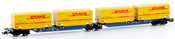 German Container Wagons Sggmrs 715 DHL of the DB AG