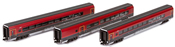 3pc 1st and 2nd Class Bar Wagen Set