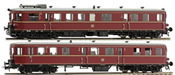 German 2pc Diesel Railcar DMUs VT36.5/VS145 of the DB with Sound