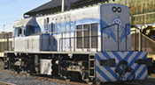 Spanish Diesel Locomotive 308.031.4.VW Think Blue of the RENFE