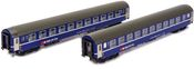 2pc Swiss RIC Sleeping Car AlpenExpress of the SBB