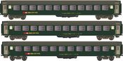 3pc Swiss RIC 2nd Class Passenger Coach Set of the SBB