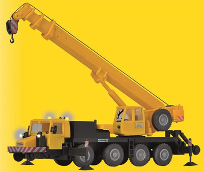 Kibri 10558 - H0 Two-way mobile crane LTM 1050-4, GleisBau,with LED lighting, functional kit **discontinued**