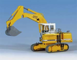 Kibri 11278 - H0 LIEBHERR R992 Litronic with backhoe shovel